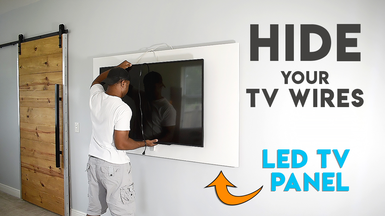 How To Hide Tv Cables With A Diy Led Tv Panel Diy Creators