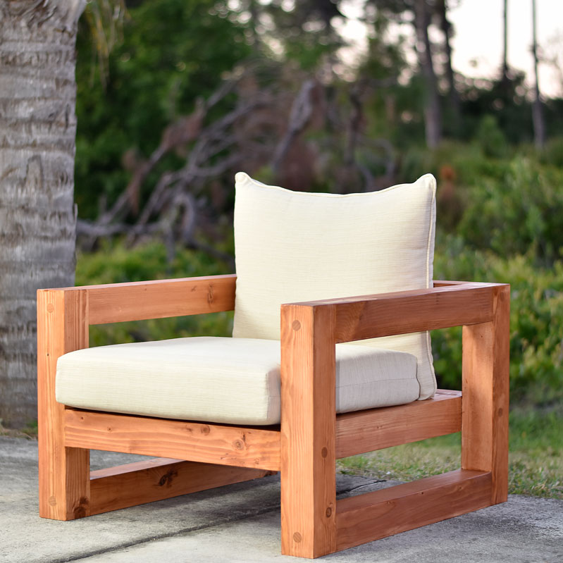 Modern Outdoor Chair: Modern Outdoor Chair (Free Plan)