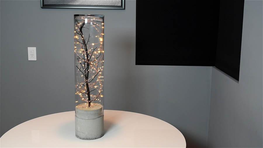 DIY Indoor/Outdoor Concrete Lamp