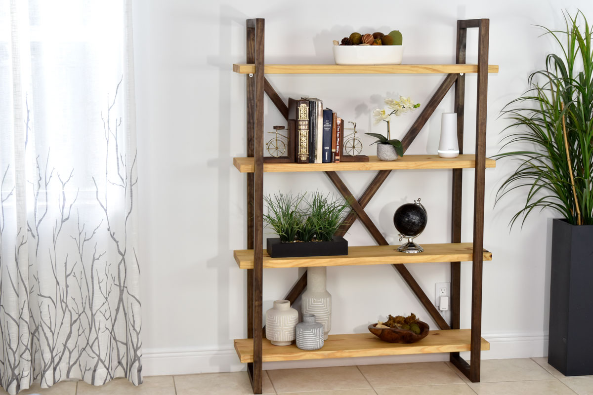 diy rustic bookshelf and storage diy creators