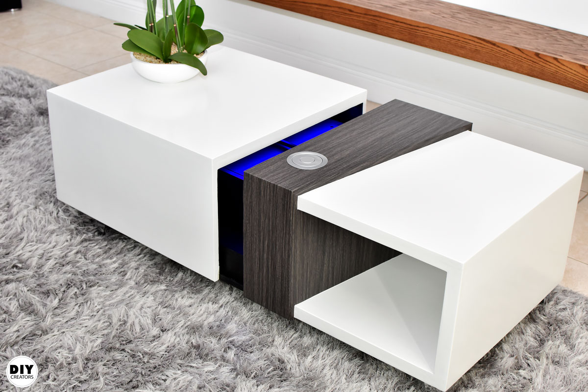 How To Make A Motorized Coffee Table with a Secret Compartment