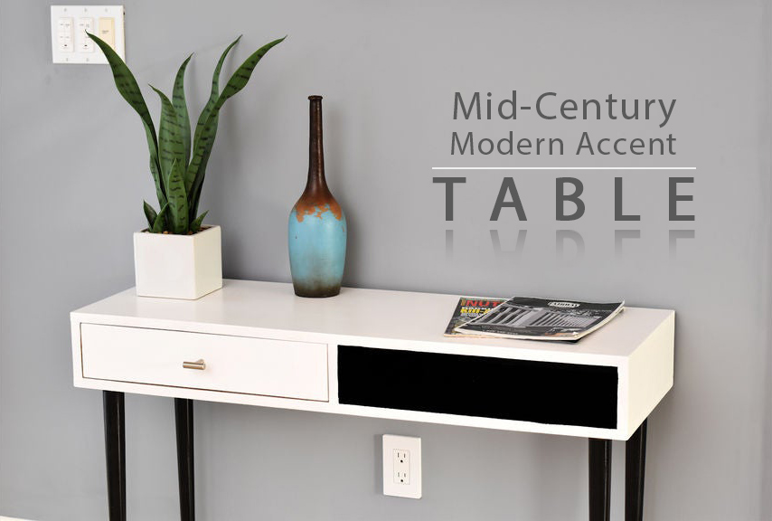 How to Make a Mid-Century, Modern Accent Table