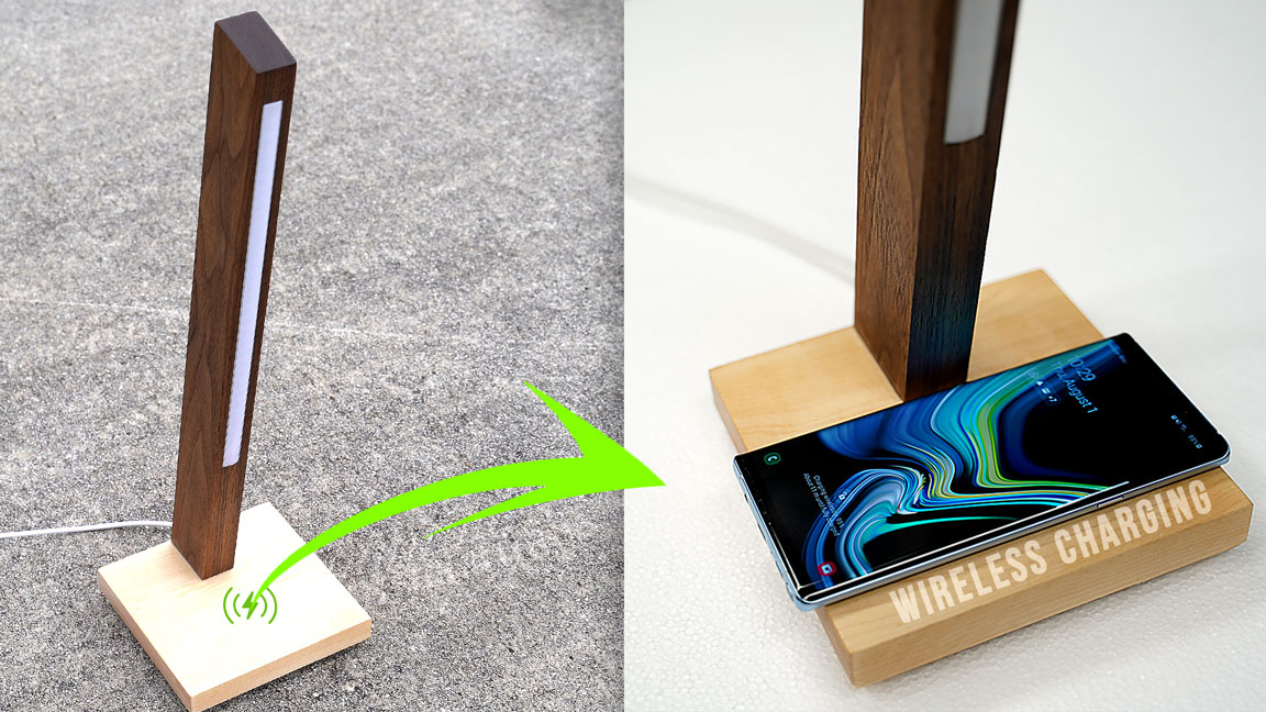 How to make a LED LAMP with hidden wireless charger