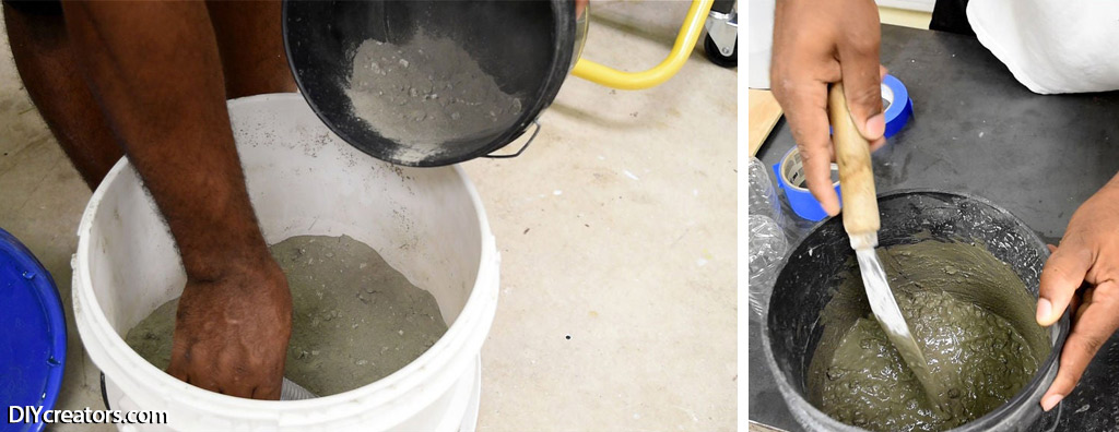 DIY Concrete Lamp - Concrete