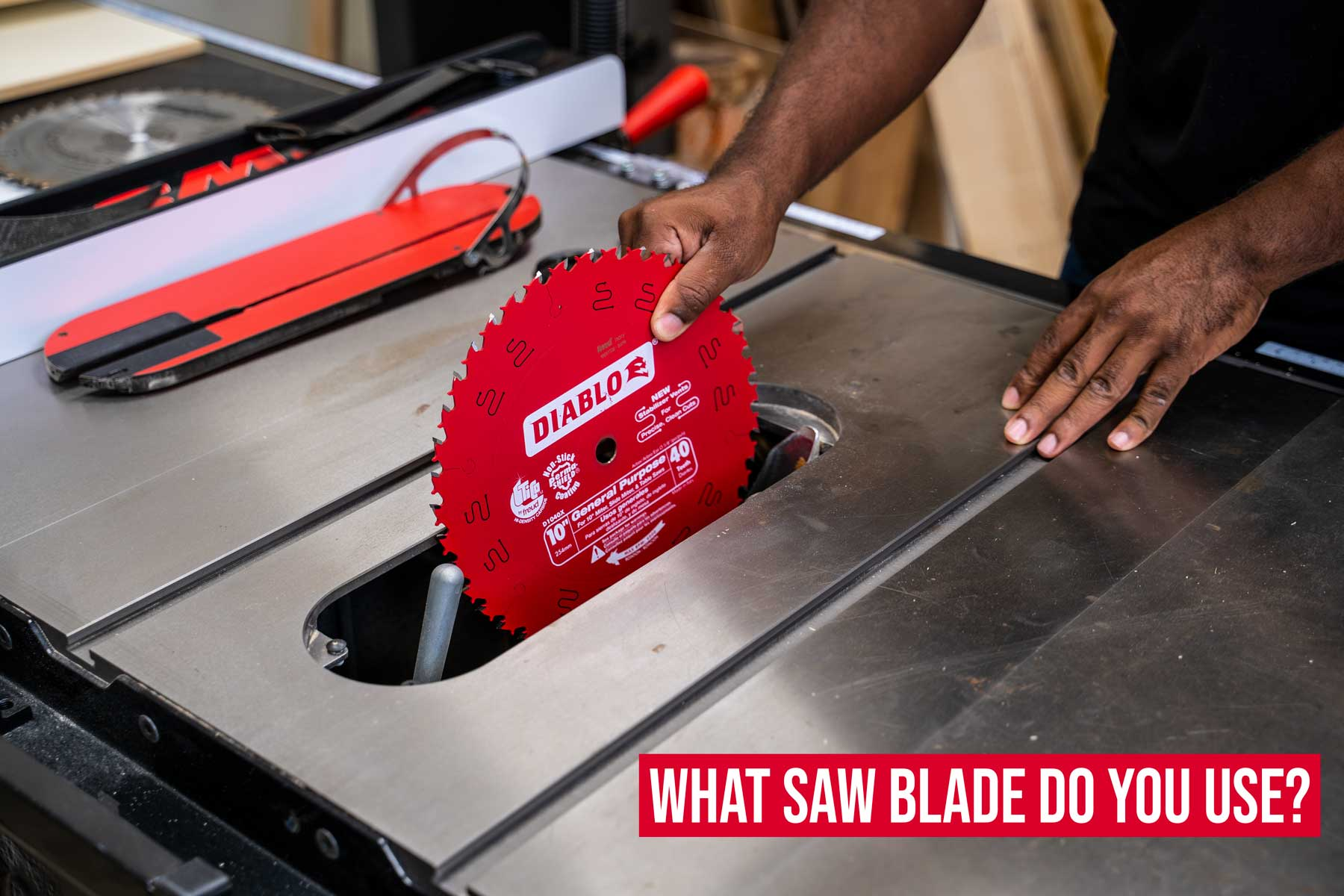 Choosing a saw blade for woodworking projects