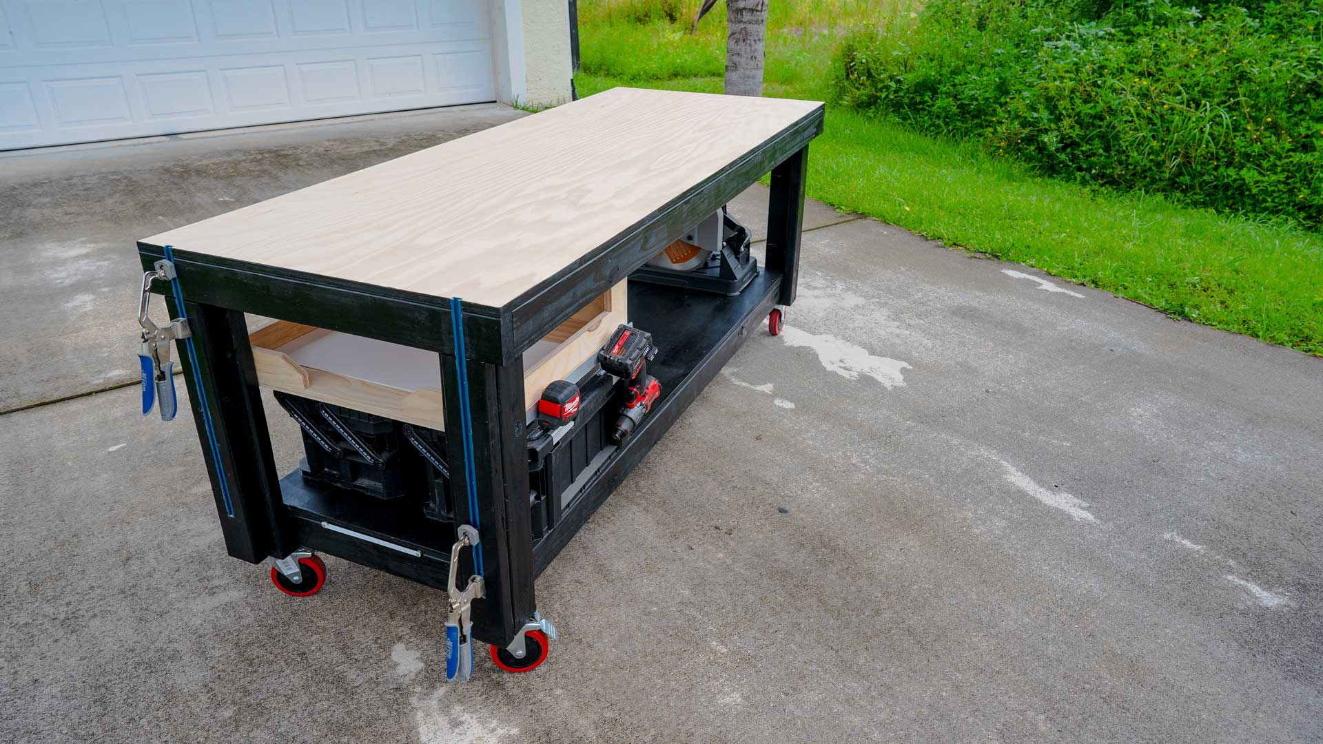 Picture of: Diy Workbench With Quick Storage And Tool Holder Diy Creators